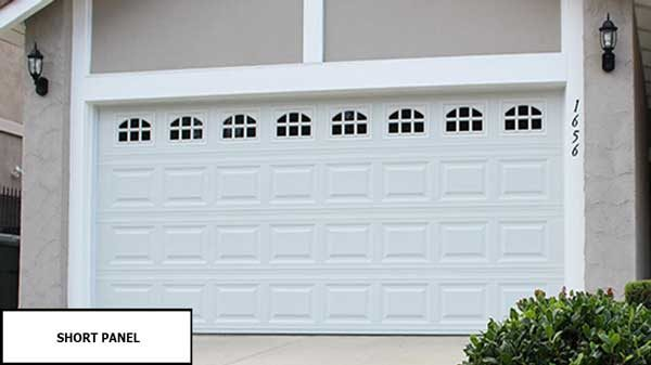 short panel garage door